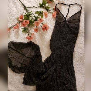 Beautiful Luxurious Black Sparkle night gown